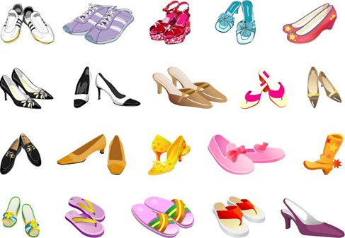 Free Shoes Vector Pack Preview