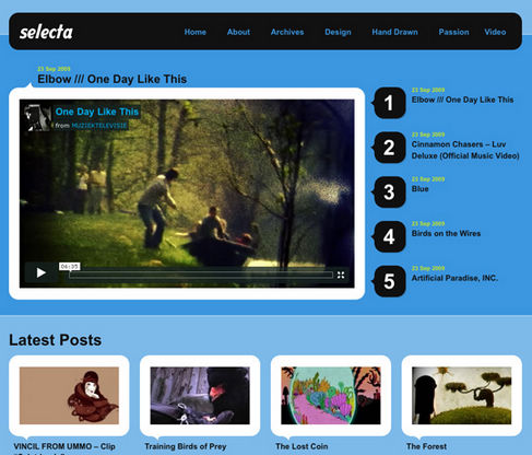 Free WordPress Theme Selecta Preview
