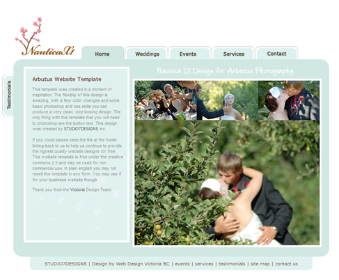 Wedding CSS Website Template_1261930734609