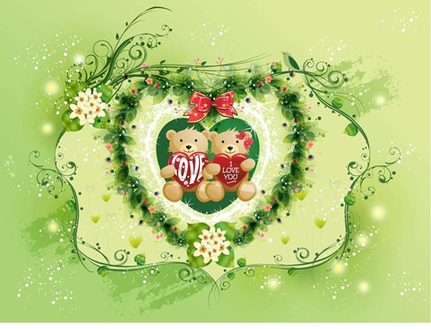 valentines day vector graphics