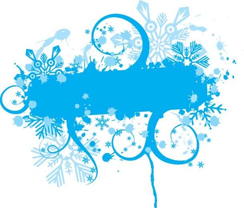 Blue Floral Vector Graphic Preview