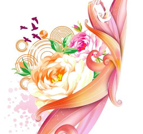 Free Pink Rose Vector Graphic Preview