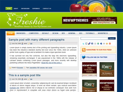 Free WordPress Theme - Freshie Preview