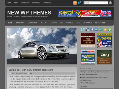 Free WordPress Theme - Roundly Preview