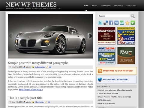 Free WordPress Theme - Slidely Preview