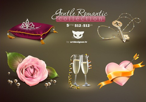 Gentle_Romantic_icons_by_LazyCrazy