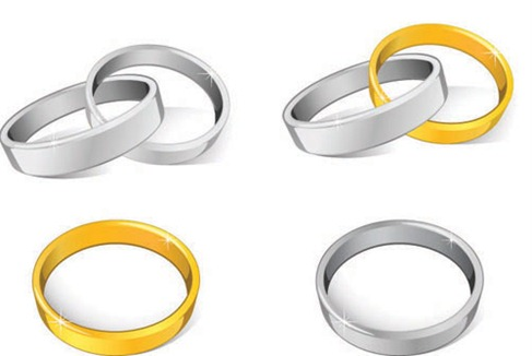 Wedding Rings Vector Preview