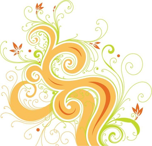 Swirl Flower Vector Graphic Preview