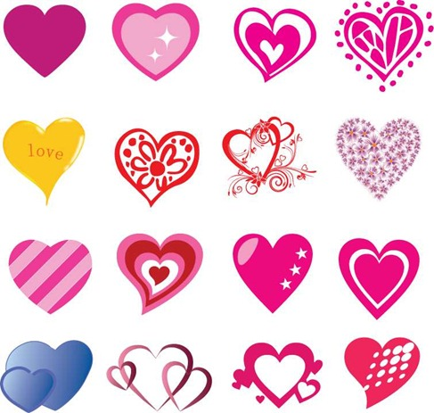 16 Free Heart-shaped Vectors Preview
