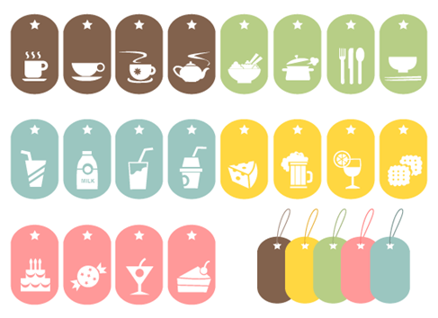 24 Food Vector Symbols