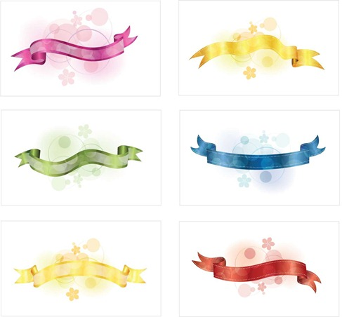 6 Free Vector Ribbons Preview