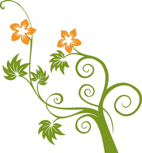 Flowers and Swirls Vector Graphic  Free Vector Graphics  All Free