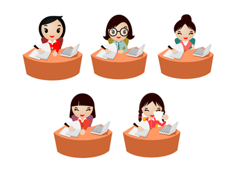 Free Office Women Icons Preview