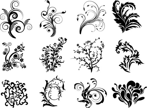 Free Vector Floral Curves Preview