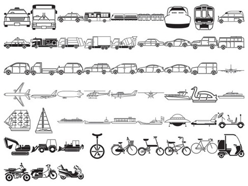 Free Vehicles Silhouette Vector Preview
