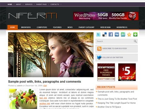 Free WordPress Theme - Niferiti Preview