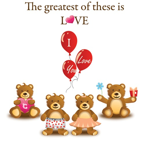 Lovely Teddy Bear Vector Graphic Preview