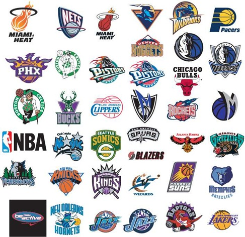NBA Basketball Team Vector logos Preview