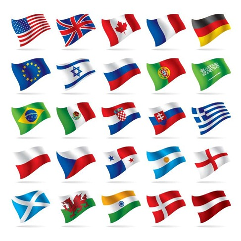 World National Flag Vectors Preview