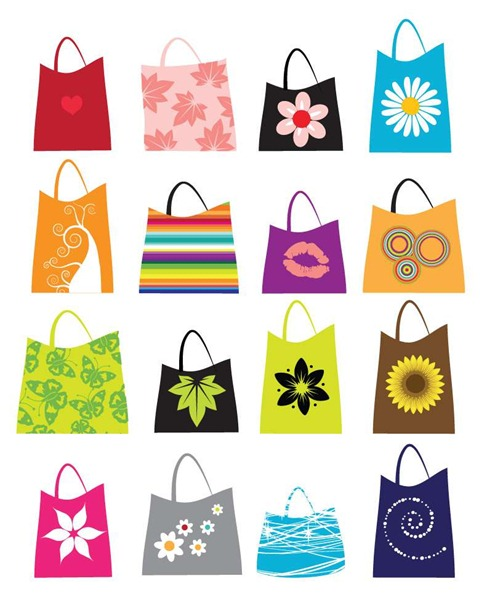 16 Free Vector Shopping Bags Preview