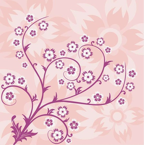 Abstract Floral Pink Background Preview