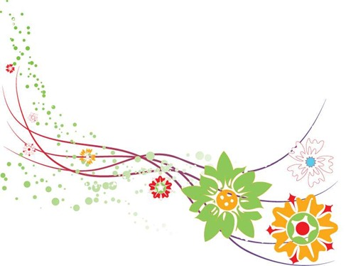 Abstract Flower Design Vector Graphic Preview
