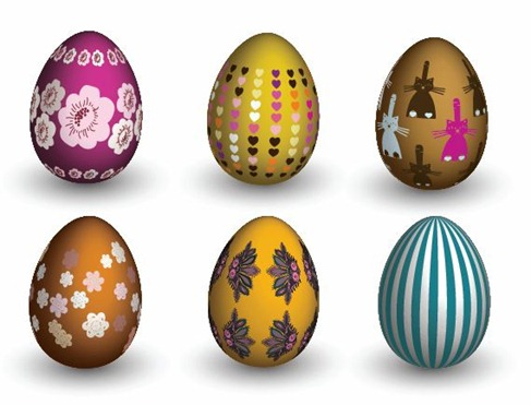 Easter Eggs Vector Preview