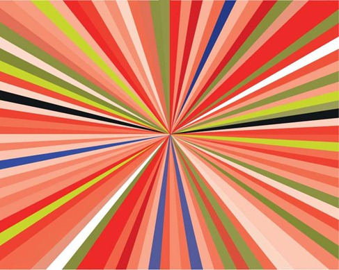 Free Rainbow Burst Vector Illustration Preview
