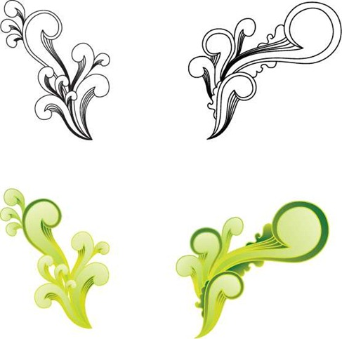Free Witty Swirls Vector Preview