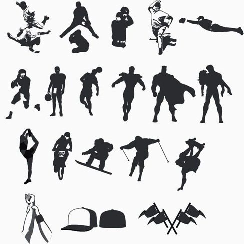 High Quality Sport and Hero Silhouettes Collection - Vector