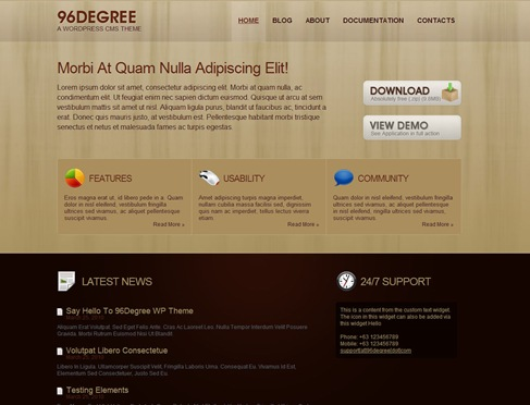 Free Business WordPress Theme - 96Degree