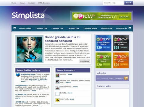Free WordPress Theme - Simplista
