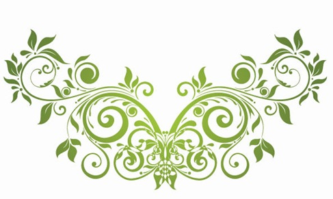 Vector Swirl Floral Design Element | Free Vector Graphics | All Free