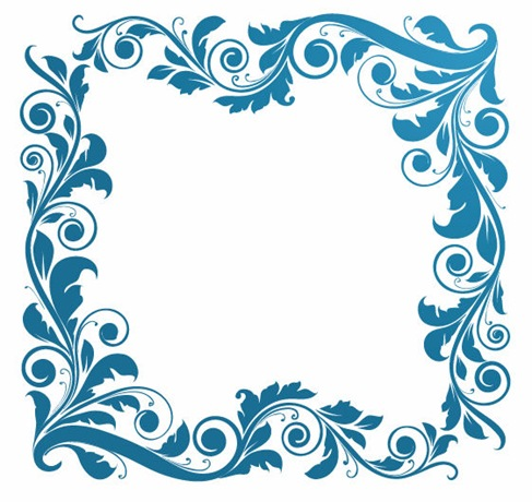Picture Backgrounds on Vintage Floral Frame Vector Illustration   Free Vector Graphics   All