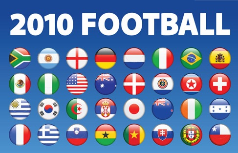 2010 Soccer World Cup Teams Logo Vector