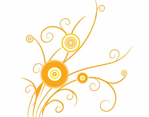 Free Graphic Vector on Floral Design Swirl Pattern Vector   Free Vector Graphics   All Free