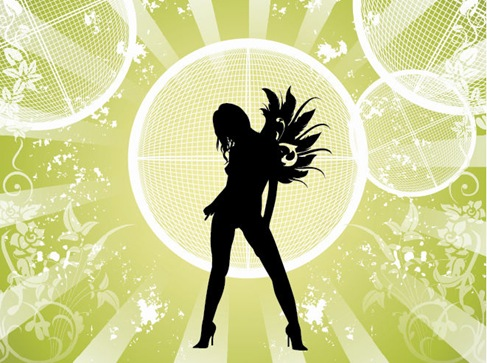 Free Vector Fashion Girl with Abstract Background