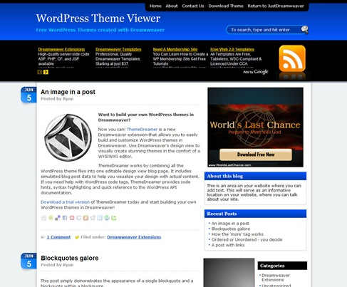 Free-WordPress-Theme---AdSensation-Blue-Preview