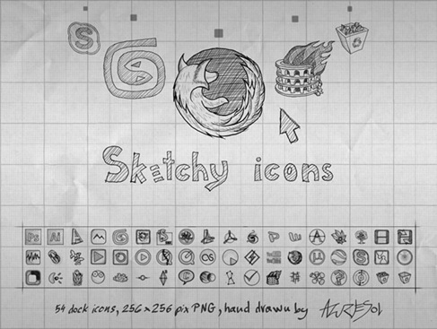 Sketchy – Hand Drawn Social Media Icon Set