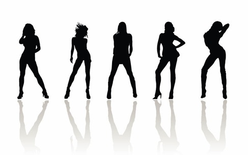 Vector-Beauty-Woman-Silhouettes. Name: Vector Beauty Woman Silhouettes