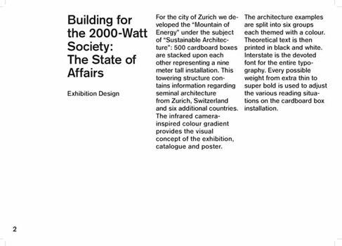 Building for the 2000-Watt Society - The State of Affairs 07
