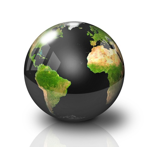 Conceptual Symbol of a Green Earth Globe Graphics (2)