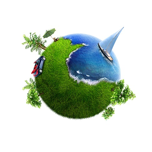 Conceptual Symbol of a Green Earth Globe Graphics (3)