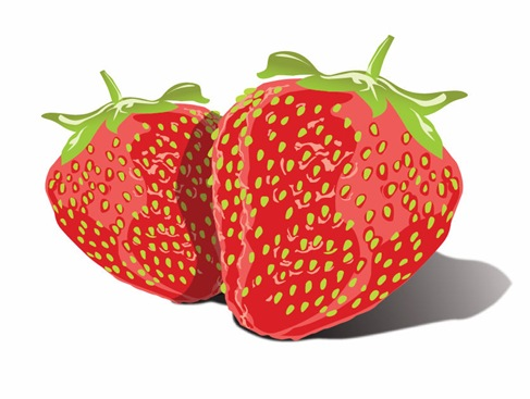 Free Vector Tasty Strawberries