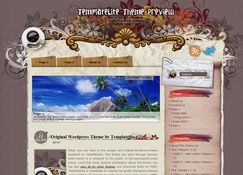 Free WordPress Theme - Vector Art