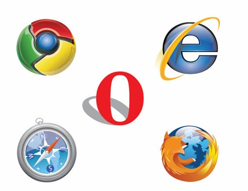 IE Chrome Firefox Safari Opera Logo Vector