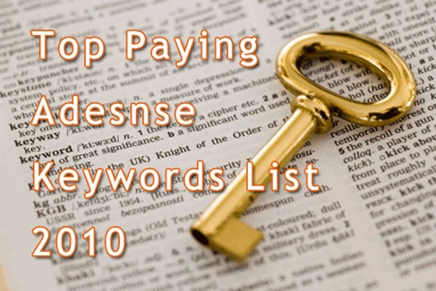 Top-Paying-Adsense-Keywords-List-2010