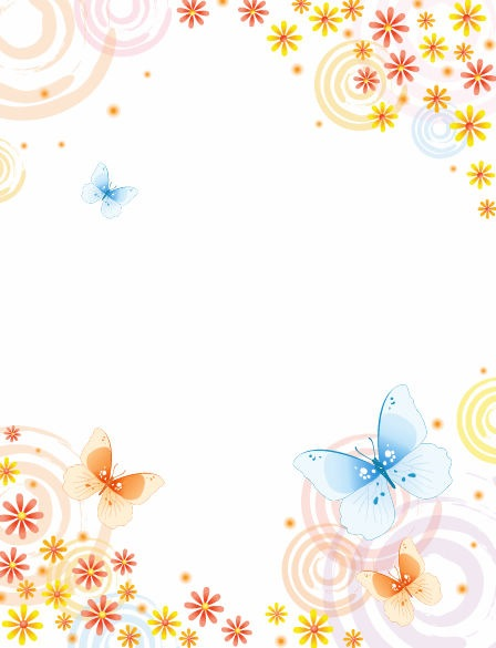 Abstract-Flower-with-Butterfly-Vector-Background