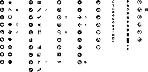 Free Simple Style Black Vector Icon Set