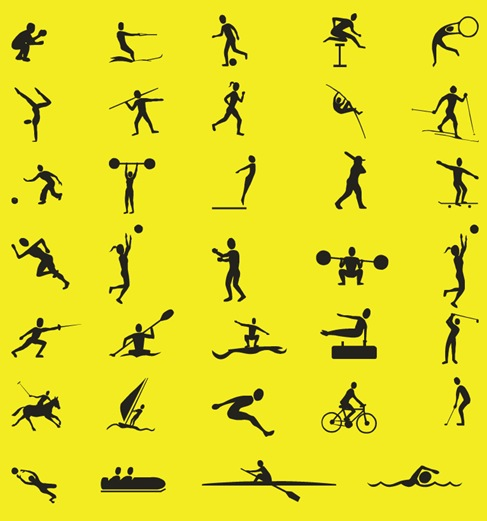 Free-Vector-Sport-Silhouettes-Collection